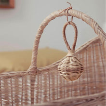 Load image into Gallery viewer, Rattan Baby Rattle, Olli Ella Raya Rattle