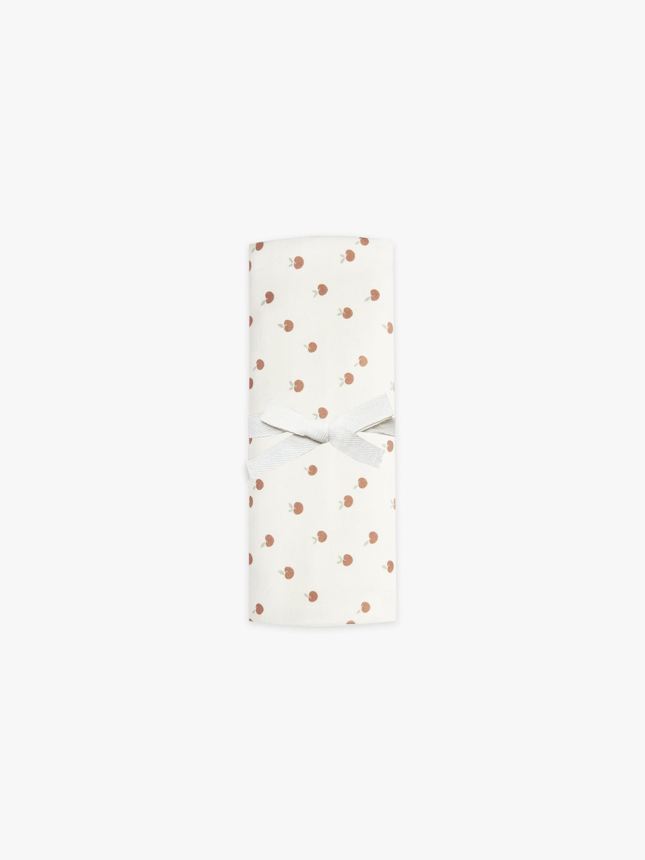 Organic Baby Swaddle Ivory/Peach