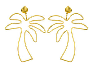 Palm Tree Earrings by Paradigm Design