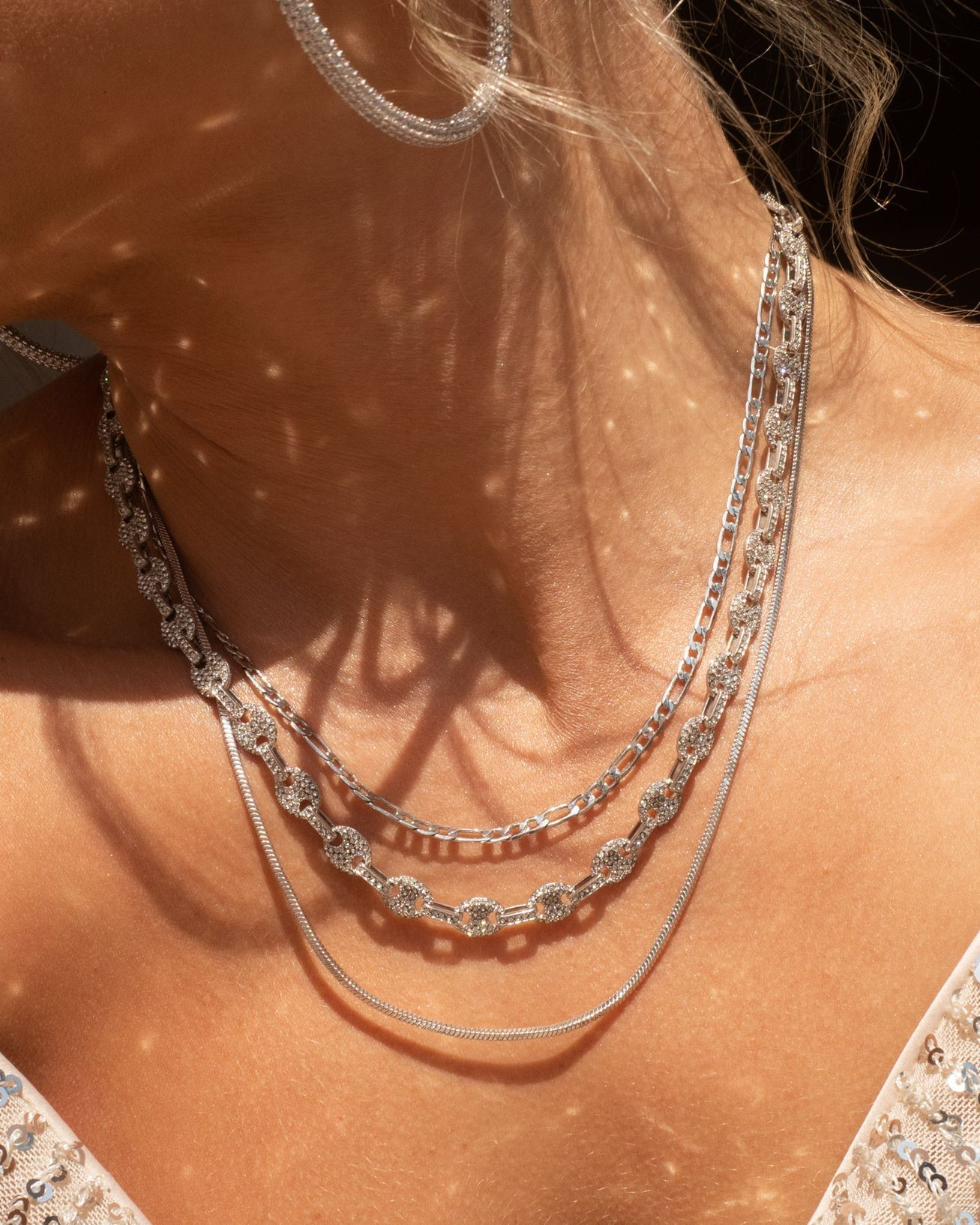 Load image into Gallery viewer, Pave Mariner Chain Necklace - Silver | Luv Aj - Holiday 2020