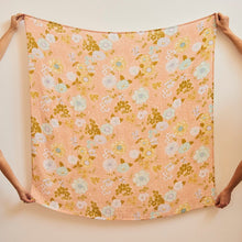 Load image into Gallery viewer, Peach Blossom Swaddle Bamboo + Organic Cotton Baby Swaddle