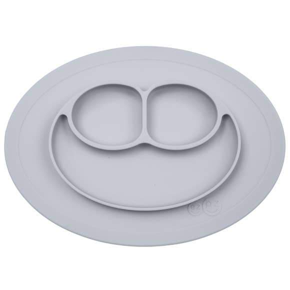 Mini Mat Suction Toddler Plate - Pewter