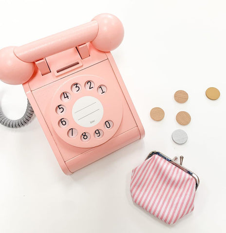 kiko+ Pink Wooden Telephone