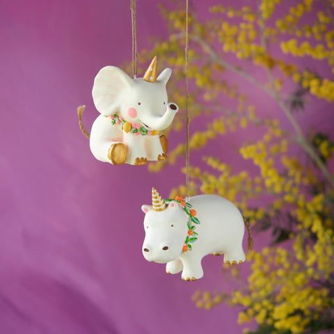 Pongo the Hippo & Bongo the Elephant Ornament