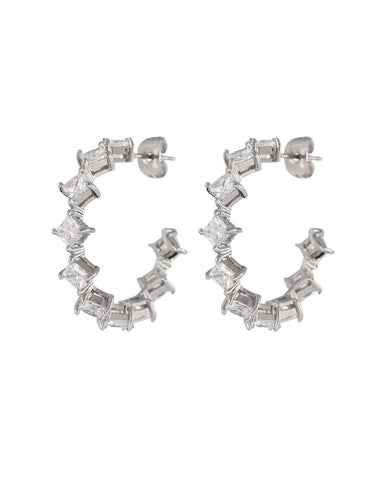 The Princess Bijou Hoops - Silver