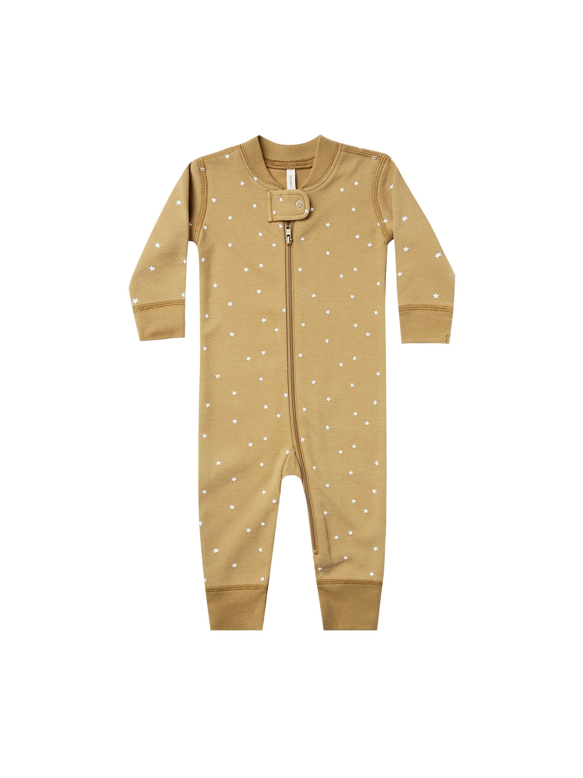Load image into Gallery viewer, Quincy Mae Zip Longsleeve Sleeper Gold
