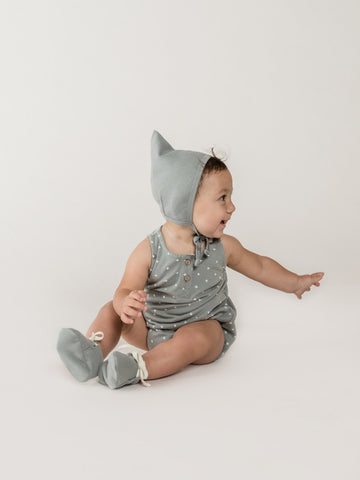 Sleeveless Bubble Onesie - Ocean