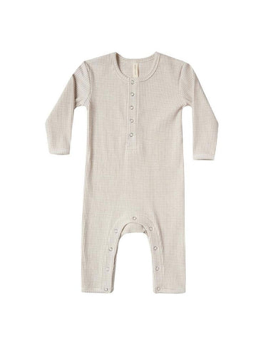 Ribbed Baby Jumpsuit - Fog Stripe