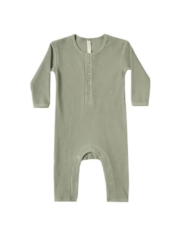 Ribbed Baby Jumpsuit - Moss