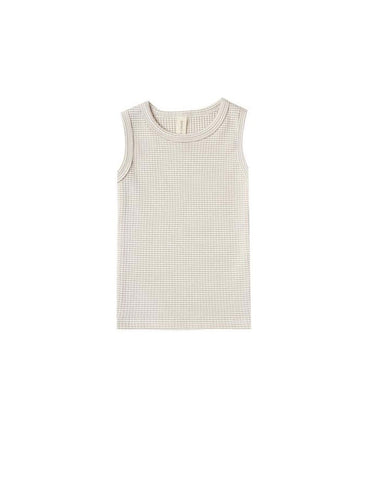 Ribbed Tank - Fog Stripe