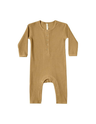 Ribbed Baby Jumpsuit - Ocre
