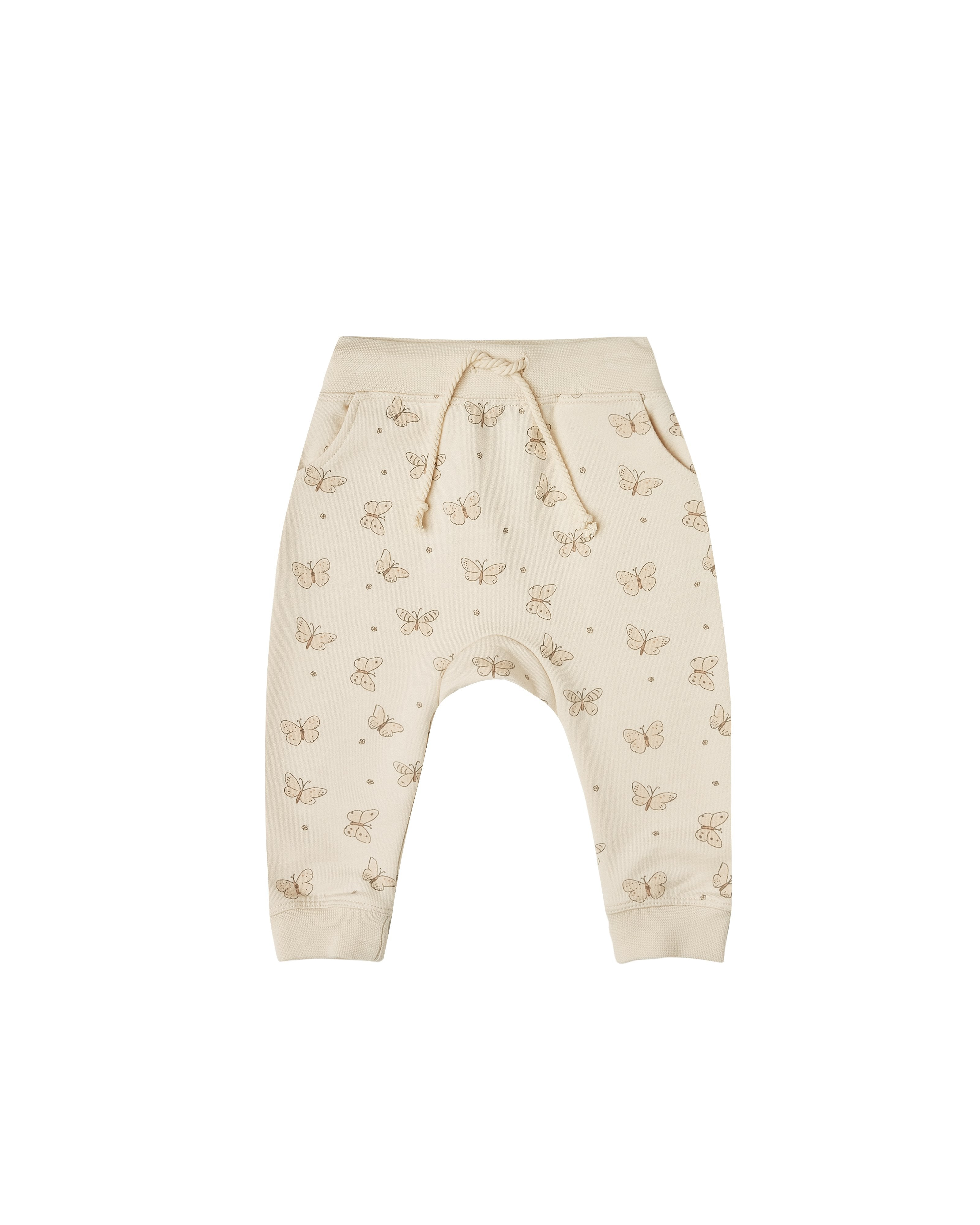Load image into Gallery viewer, The Rylee & Cru Butterfly Terry Sweatpant Natural