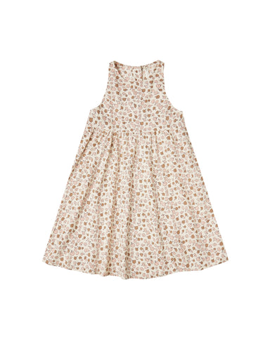 Girls Delicate Flower Zoe Maxi Dress Natural
