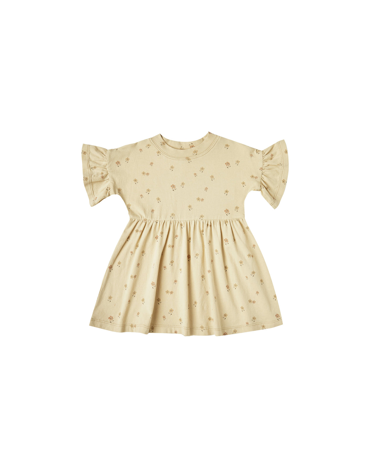 The Rylee & Cru Little Flower Babydoll Dress Butter