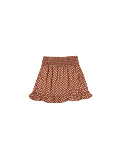 The Rylee & Cru Flower Power Wrap Ruffle Skirt Amber