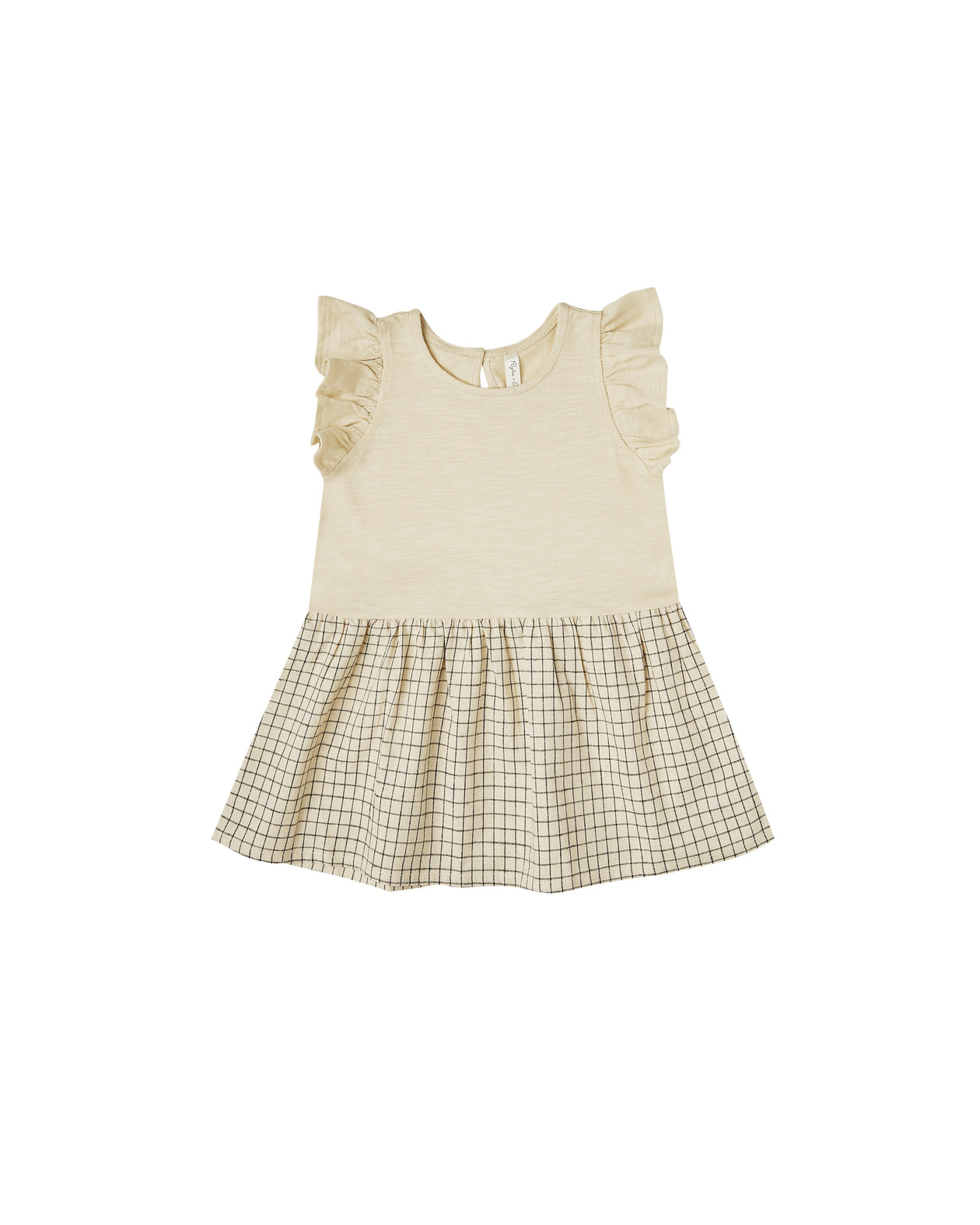 The Rylee & Cru Grid Coury Dress Butter