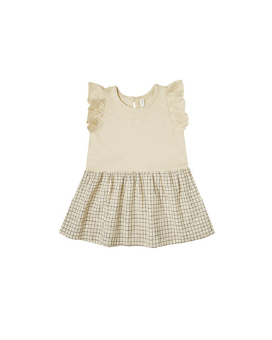Grid Coury Dress Butter