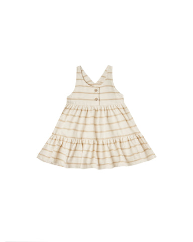 Striped Ruby Swing Dress Almond Natural