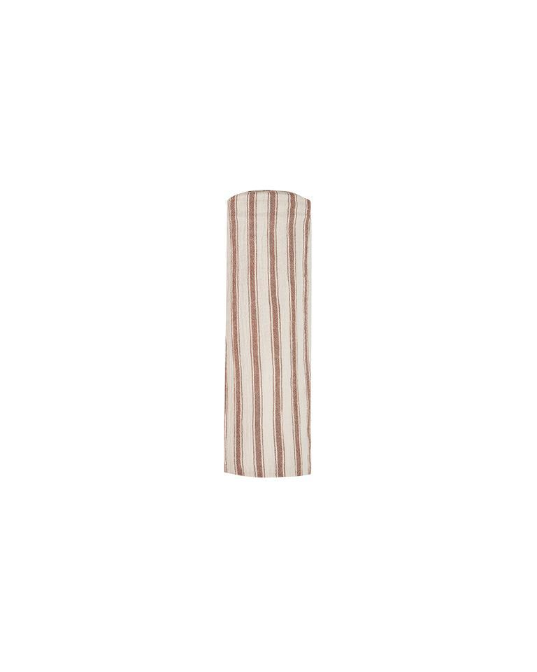 The Rylee & Cru Striped Swaddle Amber Natural