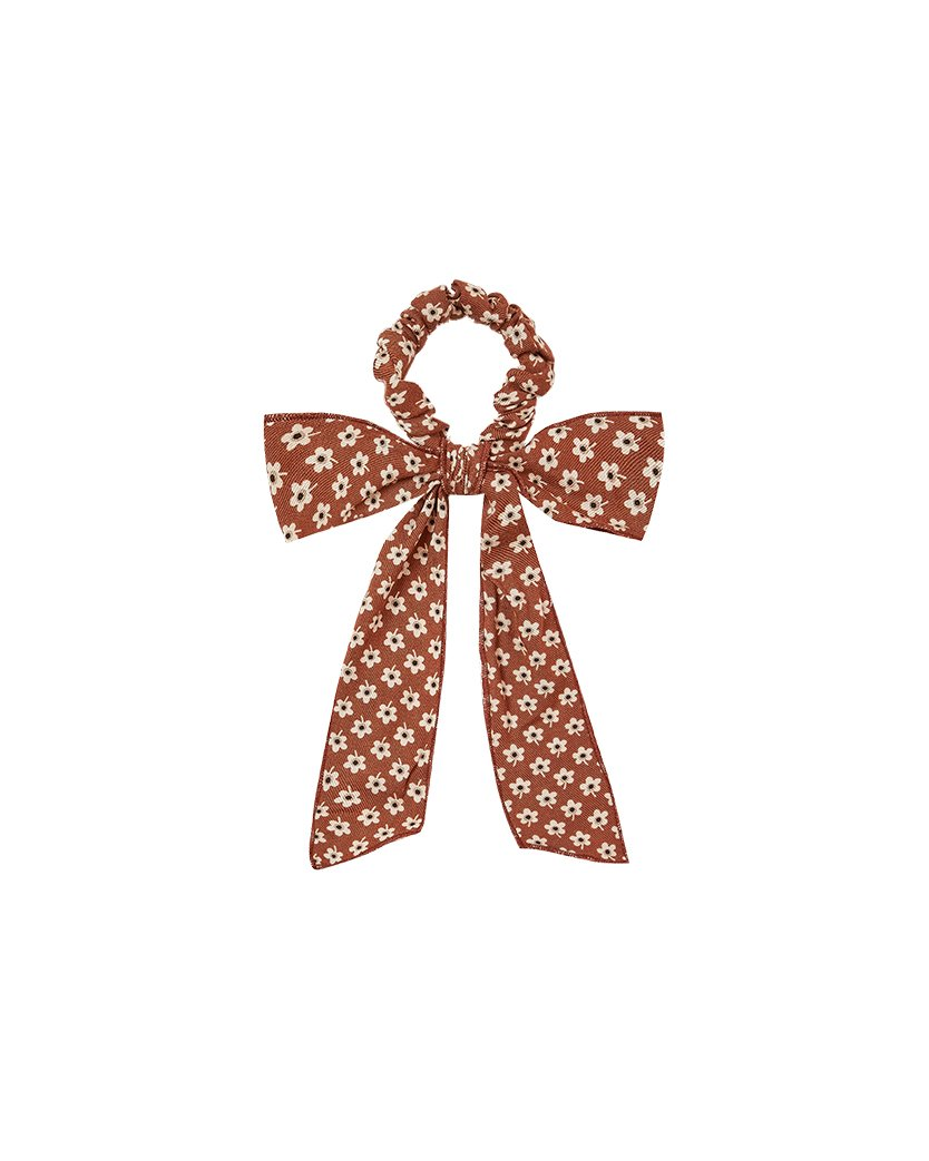 Load image into Gallery viewer, The Rylee & Cru Flower Power Bow Scrunchie Amber