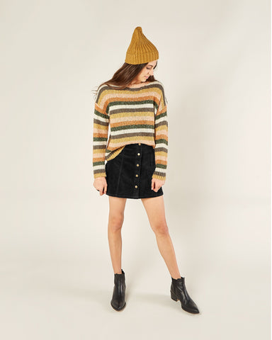 Womens Stripe Aspen Sweater - Multi