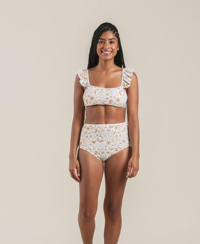 High Waisted Bikini Bottom Ivory