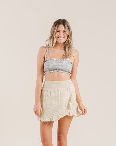 Wrap Ruffle Skirt Butter