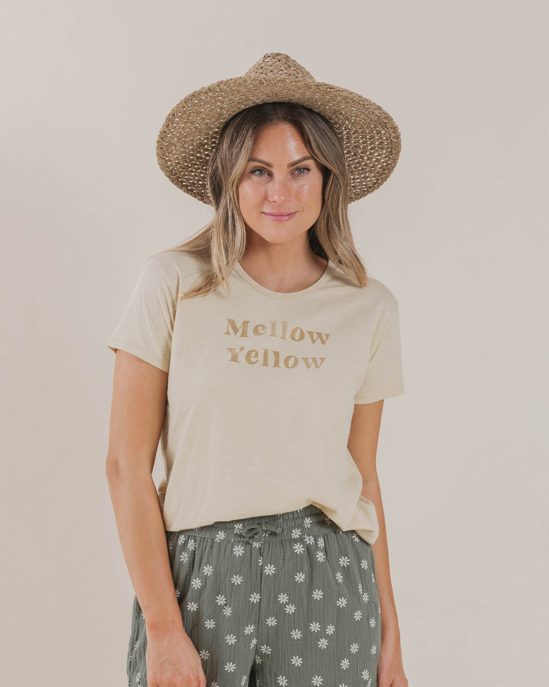 Load image into Gallery viewer, The Rylee & Cru Mellow Yellow Tee Butter