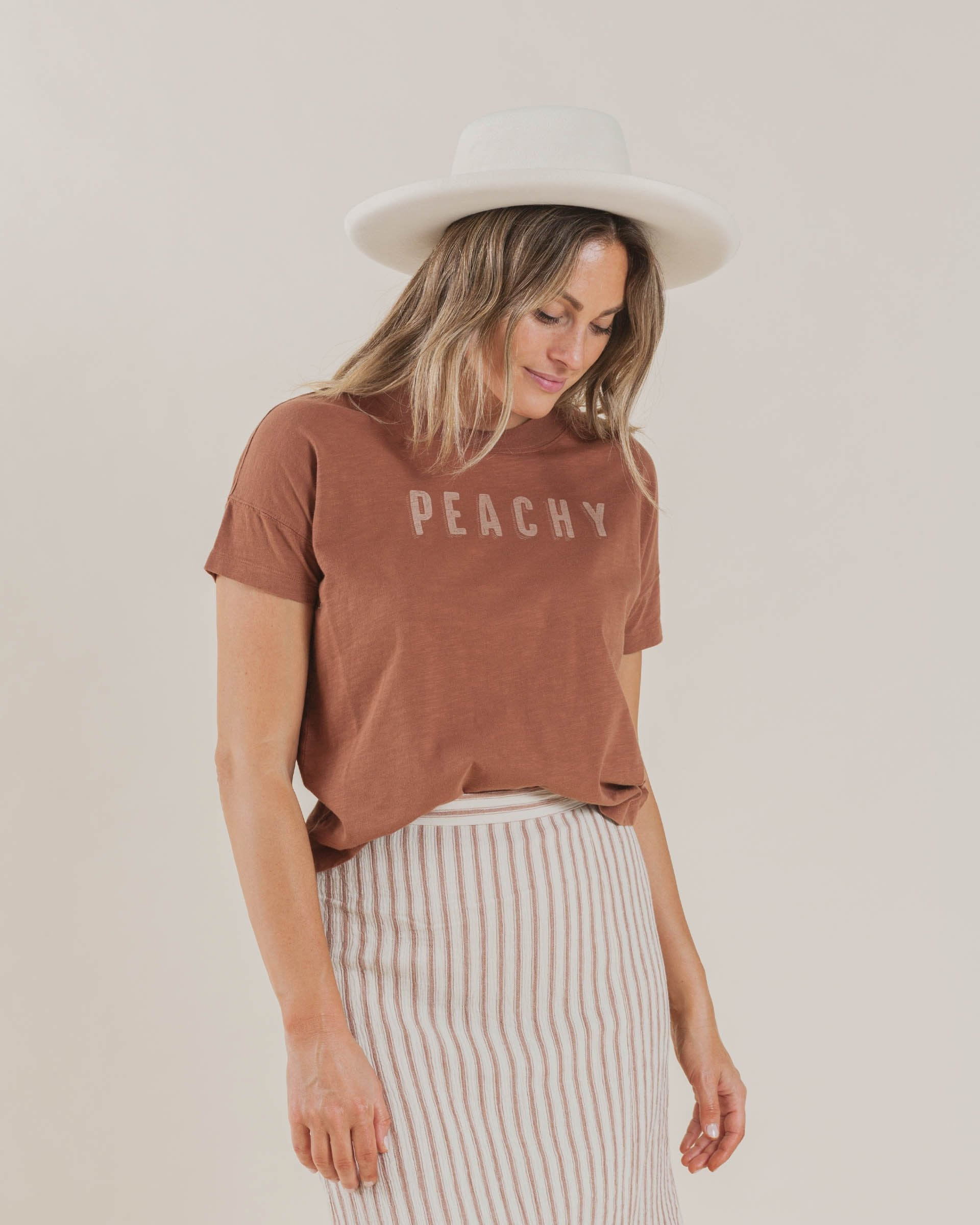 Load image into Gallery viewer, The Rylee & Cru Peachy Boxy Tee Amber