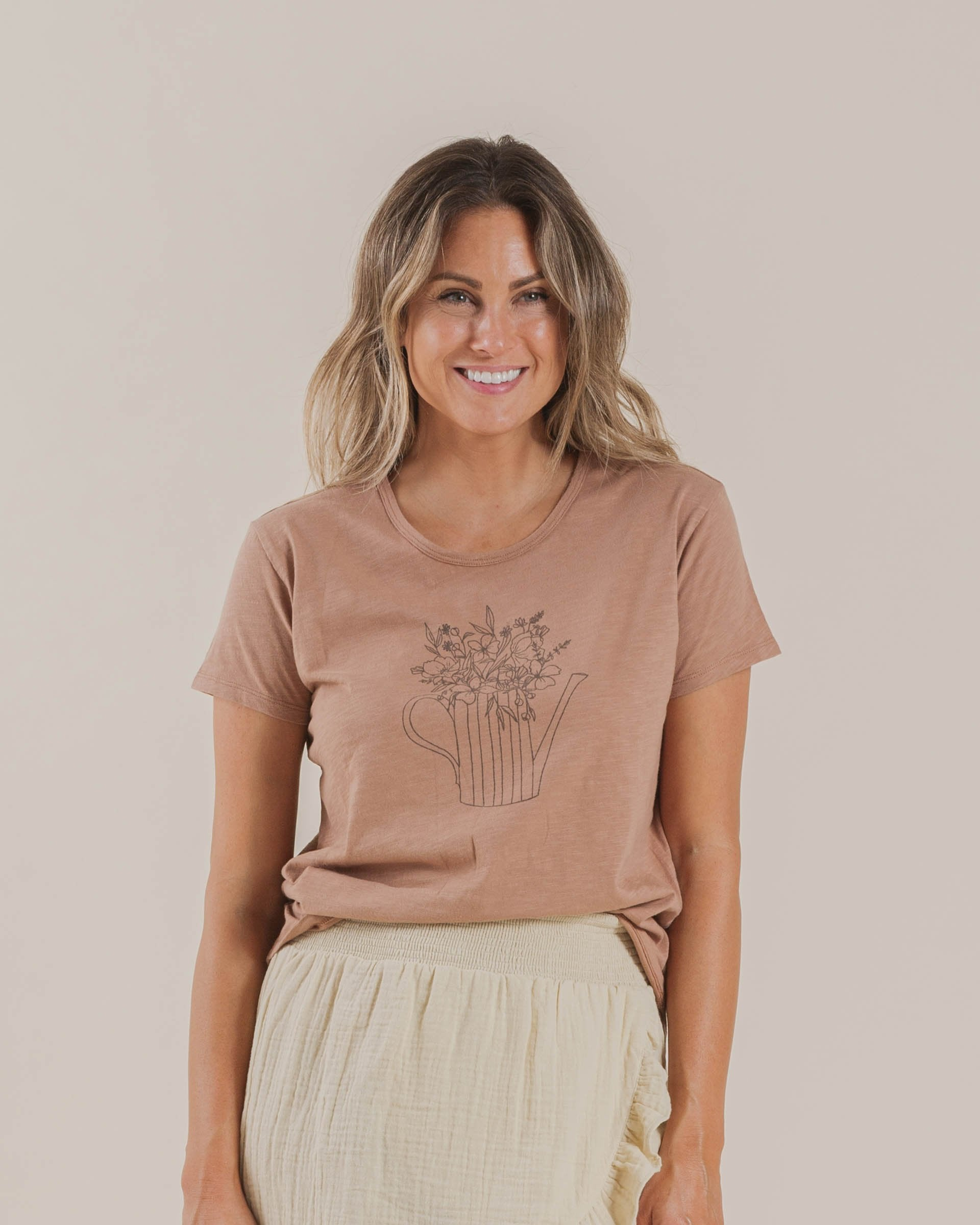 Load image into Gallery viewer, The Rylee & Cru Garden Flowers Tee Terracotta