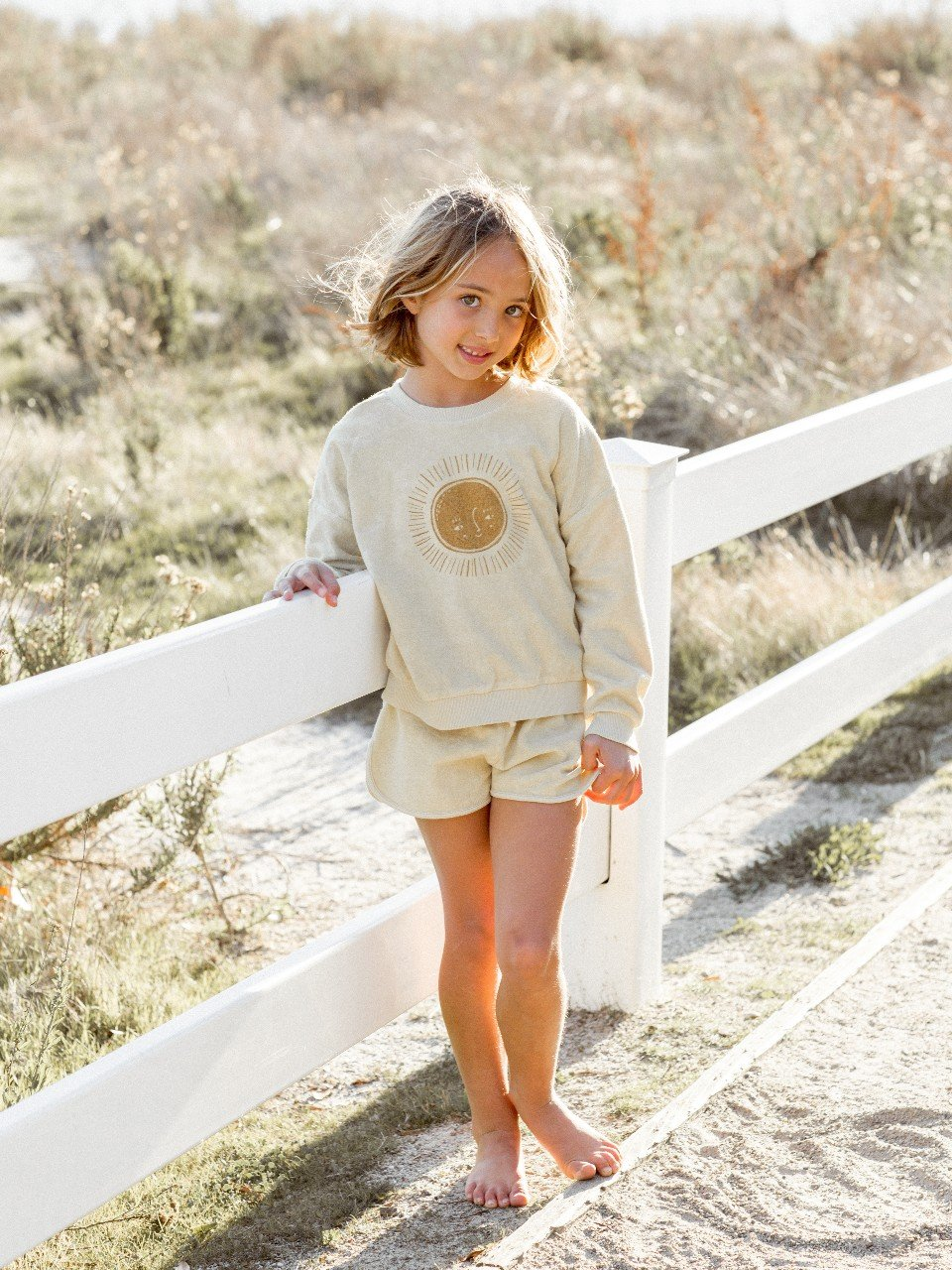 Load image into Gallery viewer, Rylee & Cru Sun Crew Neck Butter