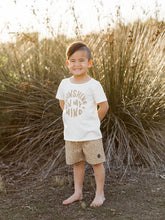 Load image into Gallery viewer, Rylee & Cru Dotty Boys Long Swim Trunk Almond