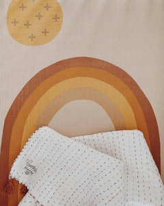 Rainbow Crib Sheet Organic Cotton