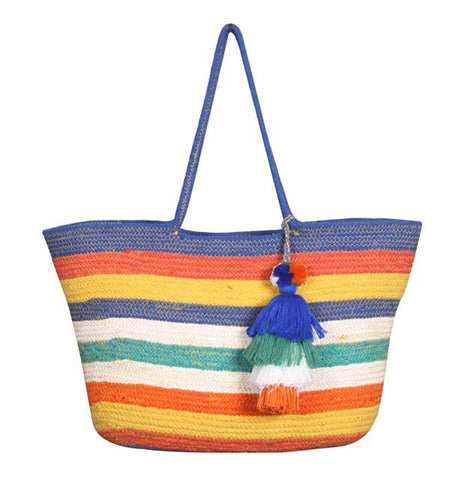 Rainbow Stripe Bucket Bag