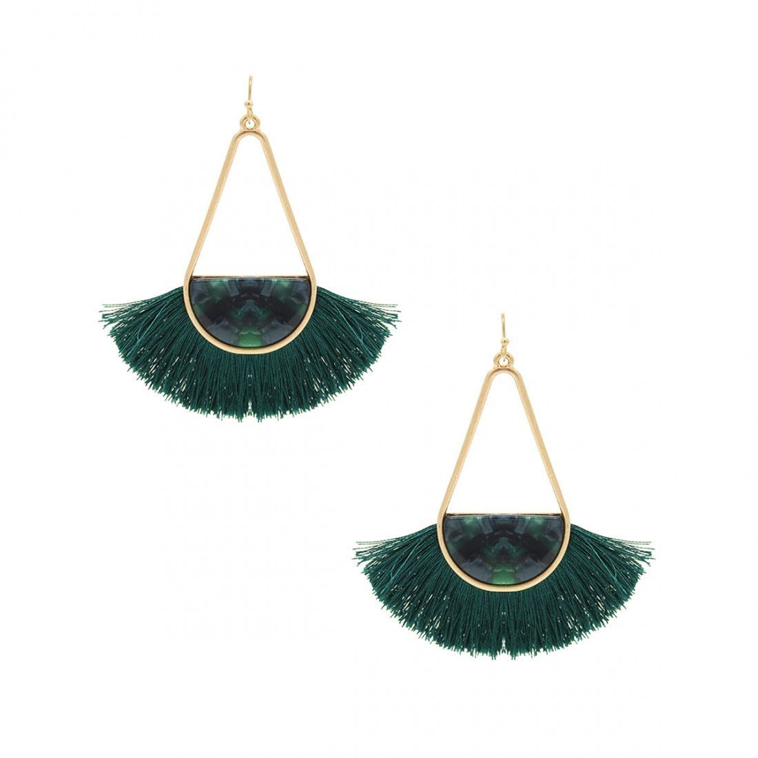 Reina Hoops in Green from 8 Other Reasons