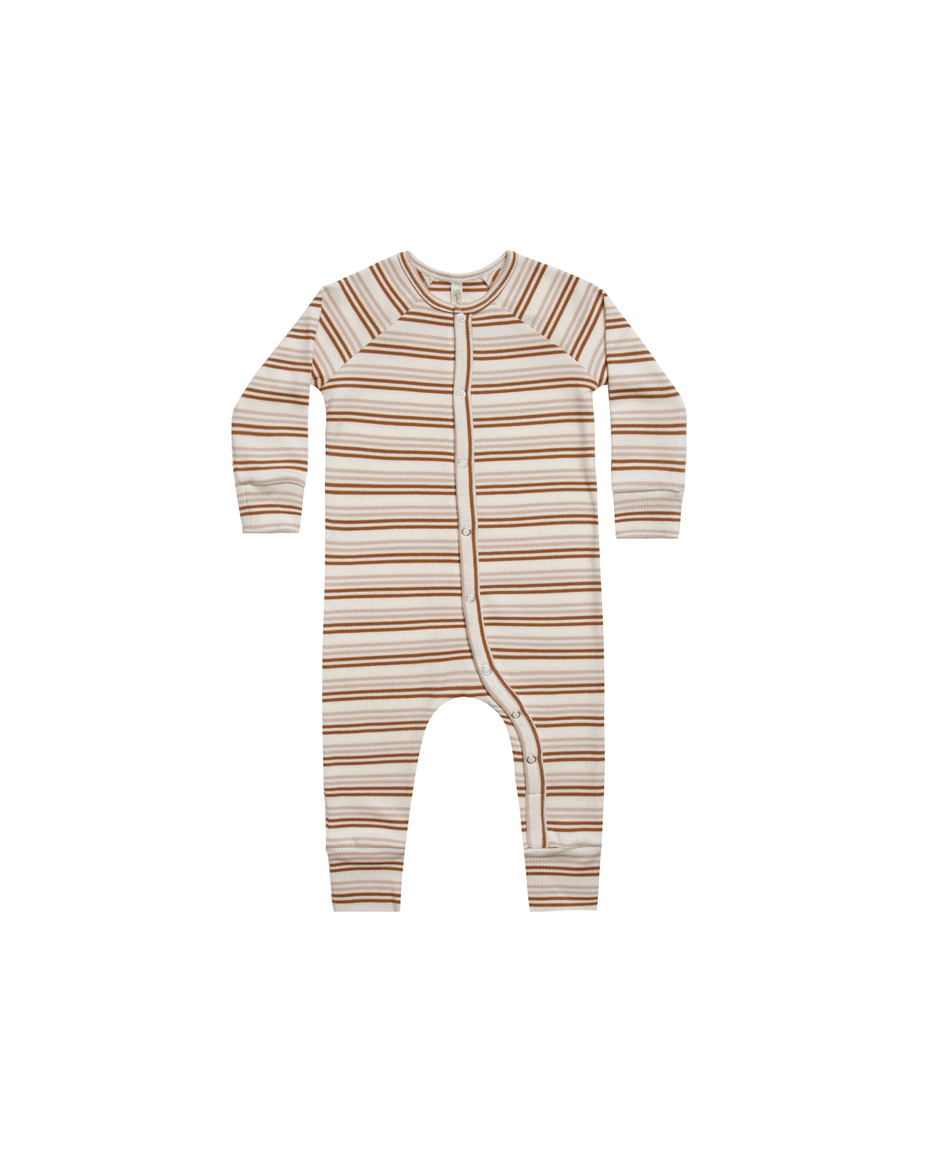 Load image into Gallery viewer, Rylee & Cru striped pajama longjohn oat cinnamon