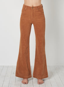 Rolla's East Coast Flare Tan Cord | High Rise Pants