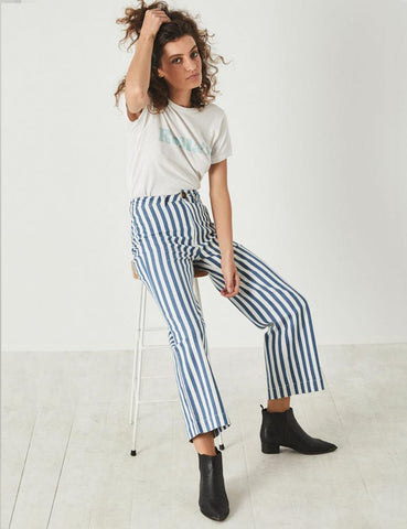 Rolla's Old Mate Pant - Bay Blue Stripe