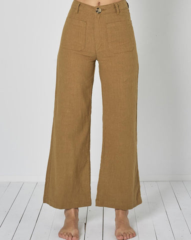 Sailor Ramie Pant - Tobacco