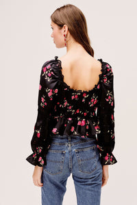 Rosie Blouse - Black | For Love and Lemons - Women's Clothing - Fall 2020