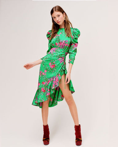 Ross Midi Dress - Kellygreen