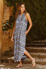 Load image into Gallery viewer, Rubyyaya Surrey Dress Navy Bohemian Dresses