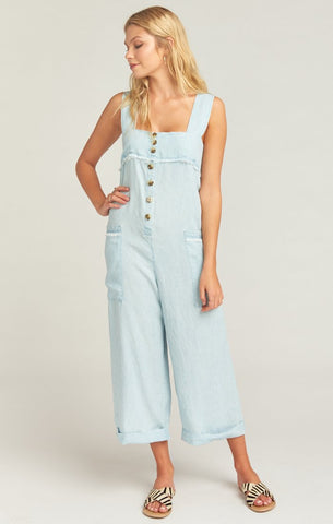 Run Around Jumpsuit - Shore Chambray