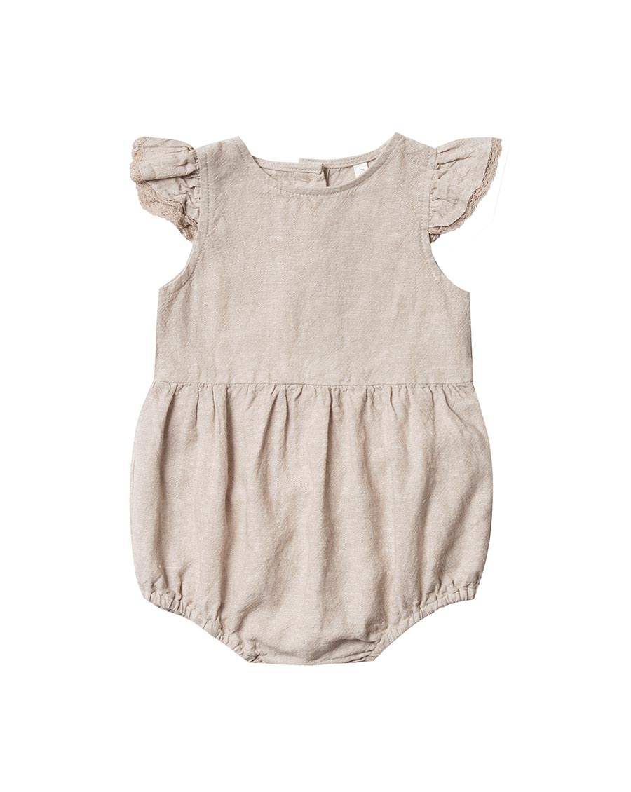 Rylee + Cru Amelia Romper FLax | Little Girls Rompers