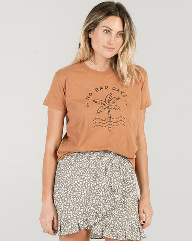 Rylee + Cru Basic Tee Bronze | Women's Round Neck Graphic Tees