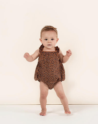 Rylee + Cru Cheetah Clementine Onesie | Little Girls Cheetah Onesies