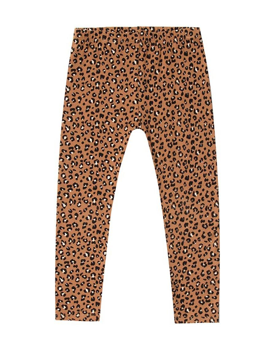 Rylee +. Cru Cheetah Legging Bronze |  Little Girls Leggings
