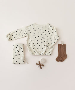 Rylee + Cru Dot Pullover Sweater - Wheat