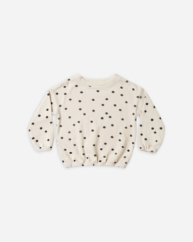 Dot Pullover Sweater - Wheat
