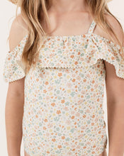 Load image into Gallery viewer, Rylee+Cru Flower Off the Shoulder Onepiece | Floral Prints Girls Swimsuits